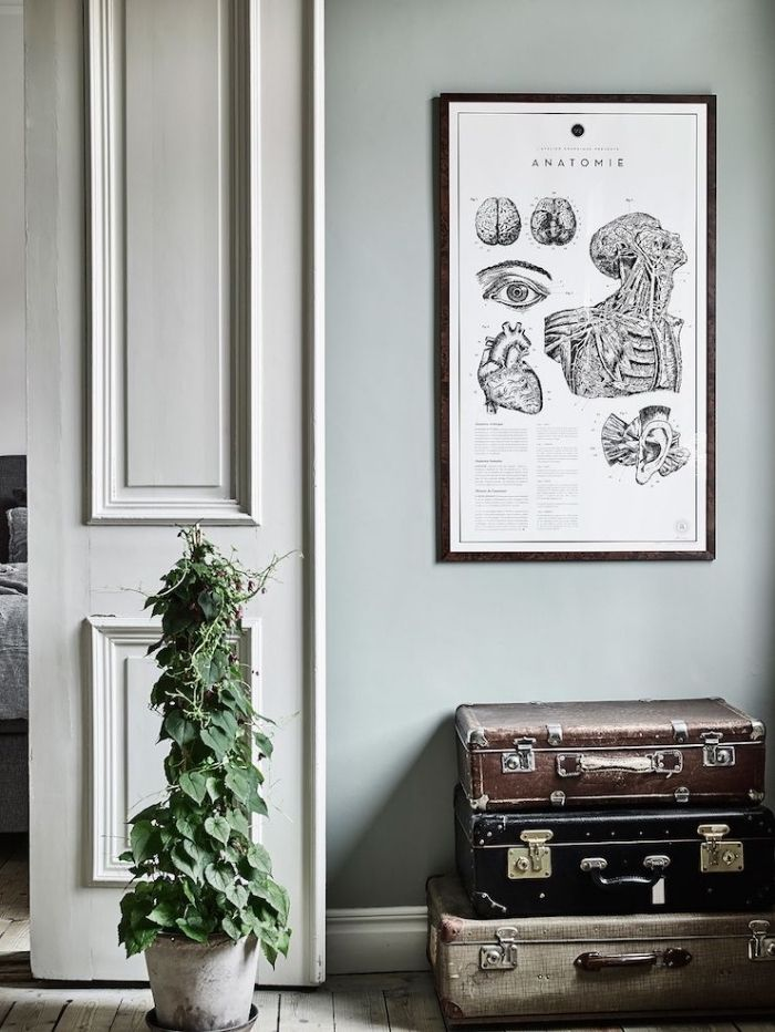 1001 Idees Comment Integrer La Peinture Vert De Gris Dans Son Interieur Avec Images Peinture Vert De Gris Couleurs De Peinture Pour Salon Appartement Scandinave
