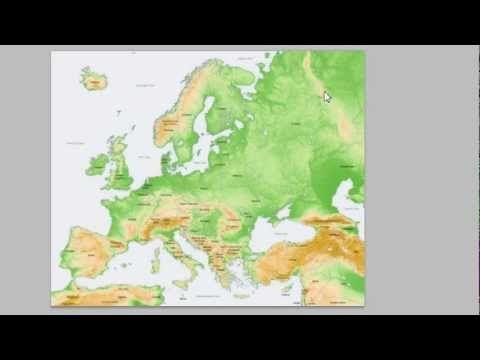 Euroopan pinnanmuodot - YouTube