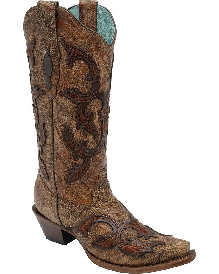 Corral Women's Patch Tall Cowgirl Boot Snip Toe - C2902 *** Remarkable product available now. : Cowgirl boots
