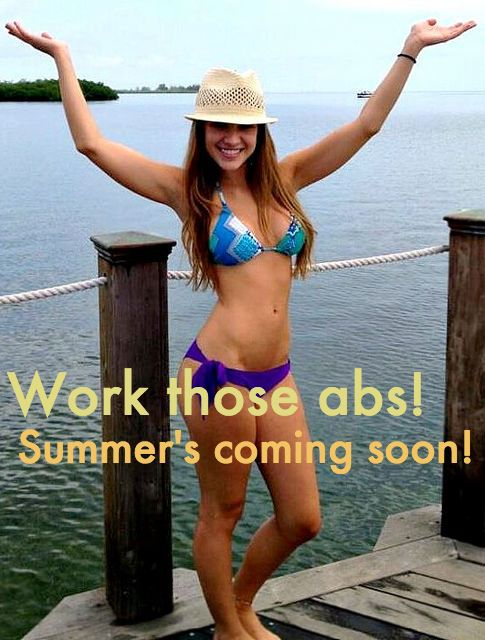 Scratch that! SUMMER IS HERE. Excellent ab exercises just in time for a bikini body countdown! #abs #workout