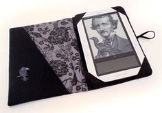 Tutorial for an ereader cover, with pocket, and embroidered design on front. Great tutorial.