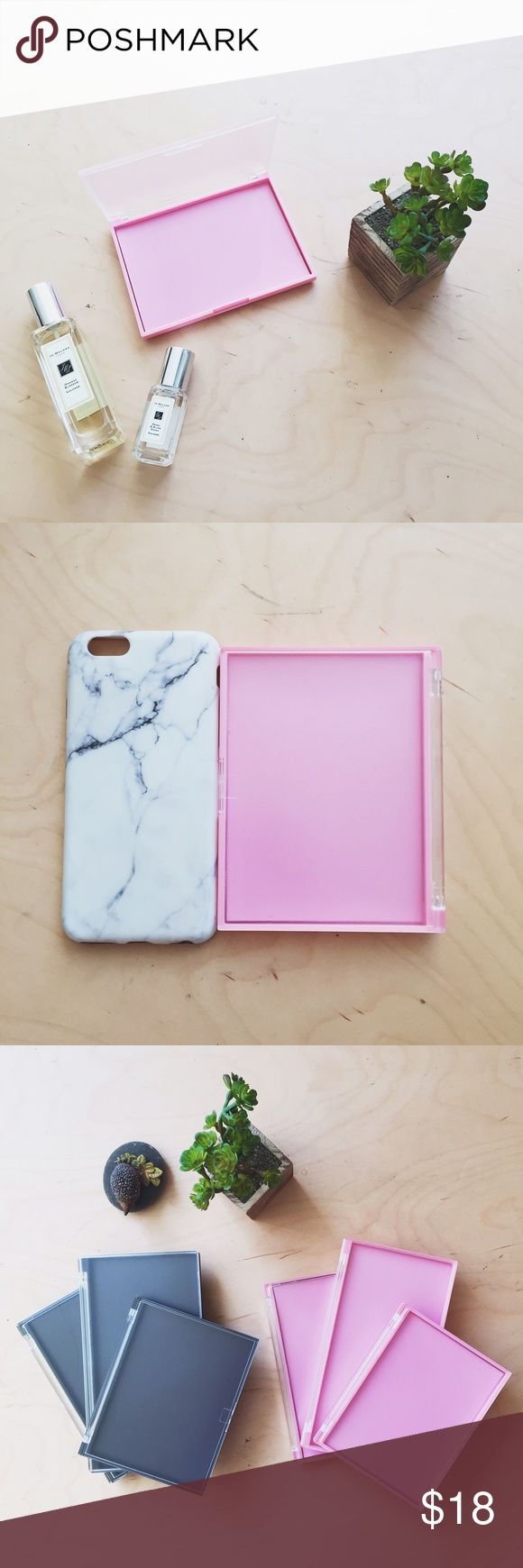 Z Palette Dupe ( Mini / Pocket-sized / Baby pink) BEST Z Palette Dupe! Empty makeup palette with customizable magnetic base in baby pink and matte finish lid. Brand Bew!  Fit well in your pocket. Size: please see comparison with iphone6 case. Makeup Brushes & Tools