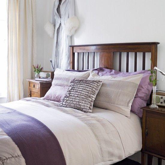 Lilac bedroom   Contemporary bedroom decorating idea   housetohome.co.uk