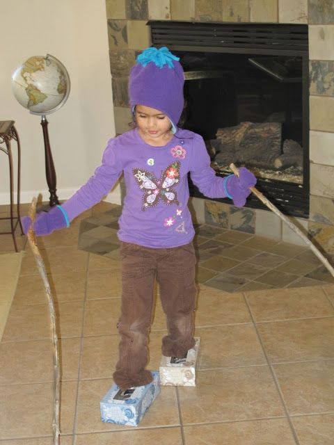 Super creative! Set up an indoor winter obstacle course to get the wiggles out when it's cold outside.