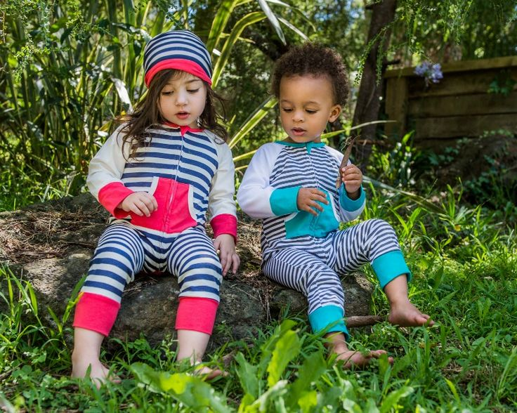 Double Trouble Twin set Zip Growsuits Newborn - 24 months Li'l Zippers AW15