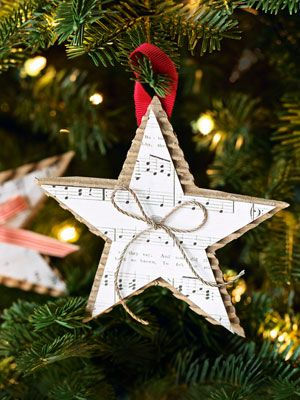 I saw some Christmas tree ornaments very similar to this at Cracker Barrel this weekend.  Use my scrapbook paper and crimper, emboss or add glitter for some sparkle.  Need to check my Cricut cartridges for other shapes: dove, angel, bells.