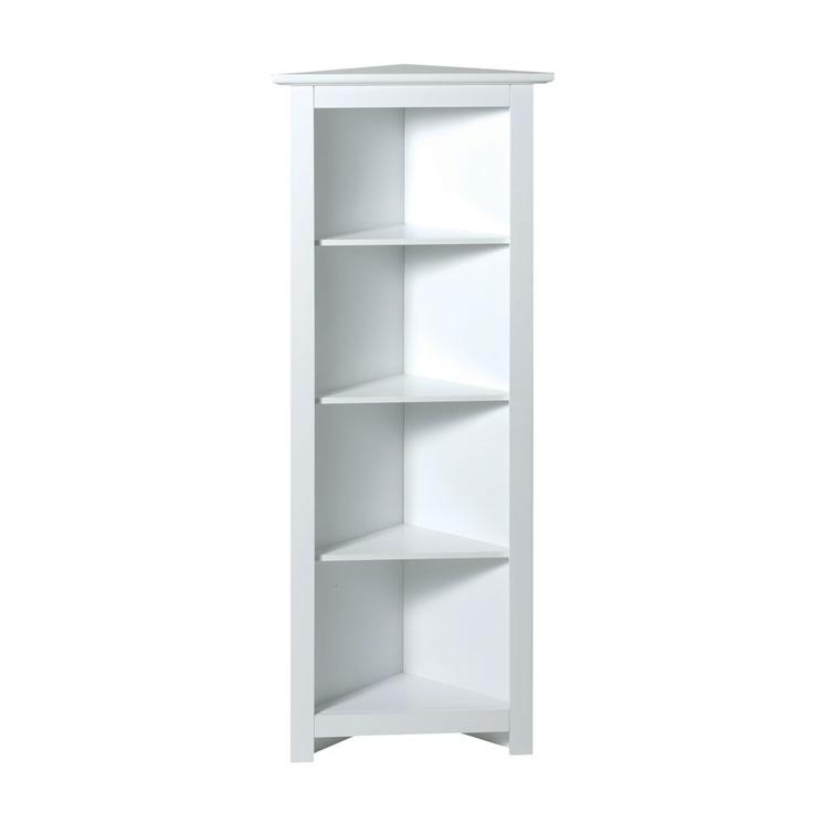 Corner Shelf Unit 4 Tier White Shelving Units Furniture From Wilkinson Plus Small