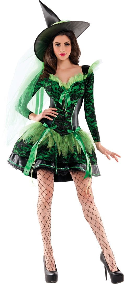Adult Emerald Wicked Witch Body Shaper Costume - Party City | Witch