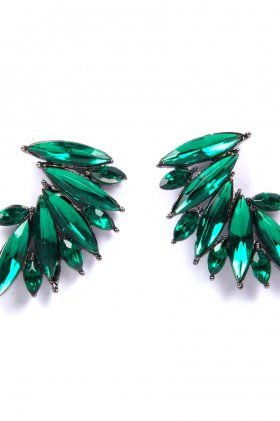 Stardust Earrings - Emerald by BOWIE | The Grand Social