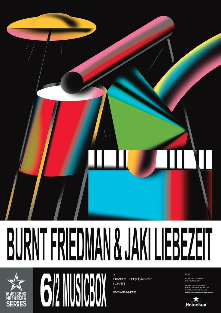 Burnt Friedman poster by Braulio Amado #graphic #design #poster