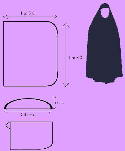 patron couture hijab