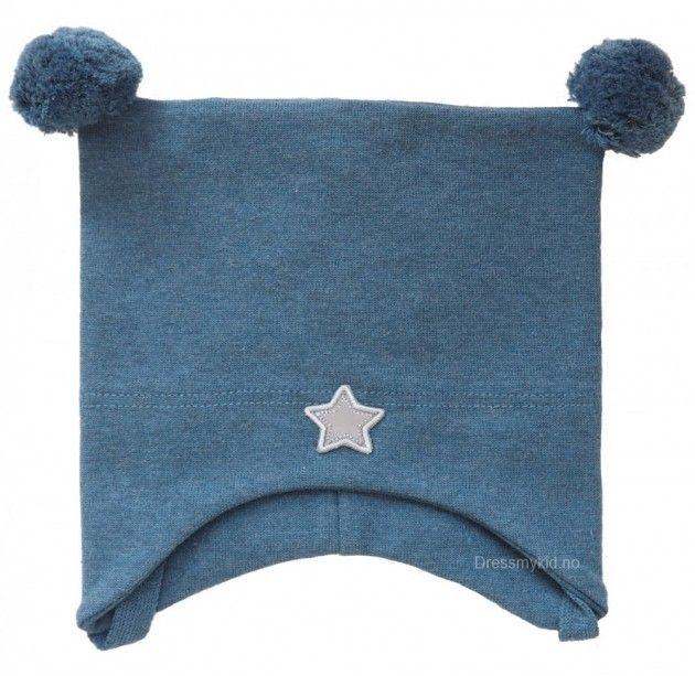 Kivat vårlue, denim med dusker og stjerne | DressMyKid.no - Barn og baby - Alltid gode tilbud