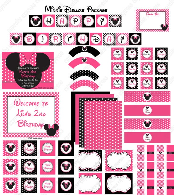 208 best images about minnie mouse 1st birthday theme on pinterest minnie mouse headband. Black Bedroom Furniture Sets. Home Design Ideas