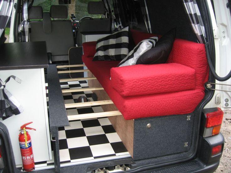 19 best camper beds images on pinterest caravan camper for Self made headboards