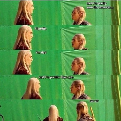 Ha ha ha! Even Thranduil does the bad dad jokes!!!! lol it took me a minute to understand and then when i did i died