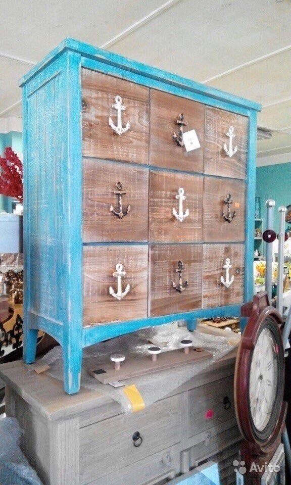 Комод с ящиками в морском стиле, дерево, новый купить в Москве на Avito — Объявления на сайте Avito
