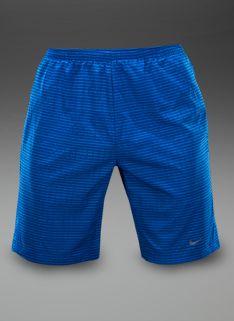 "Nike Printed 9"" Distance Shorts - Mens Running Clothing - Photo Blue-Reflective Silver"