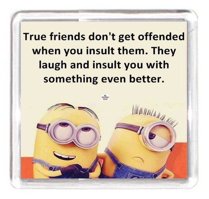 Minion Character True Best Friend Get Insulted Laugh Joke Insult Saying Gift Fri