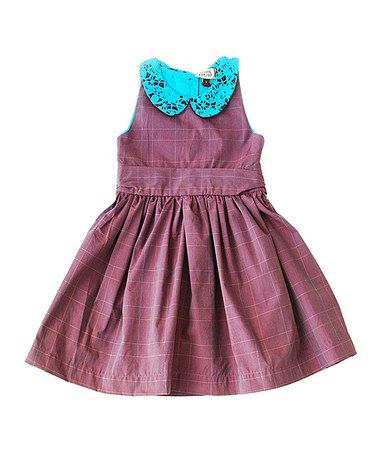 Love this Maroon & Turquoise Plaid Pauline Dress - Toddler & Girls by Sophie Catalou on #zulily! #zulilyfinds