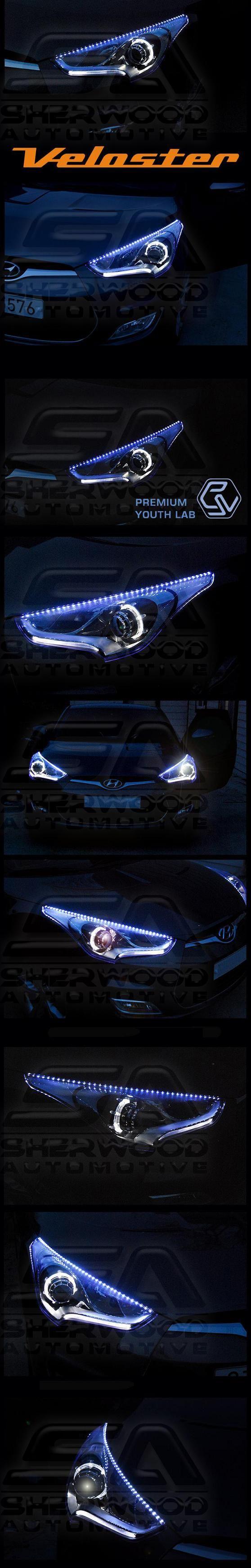 Veloster LED Headlight Eyeline Kit - Korean Auto Imports
