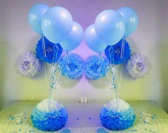 Pesas de globo grande pompones de mesa centros de por Ohsopretty37