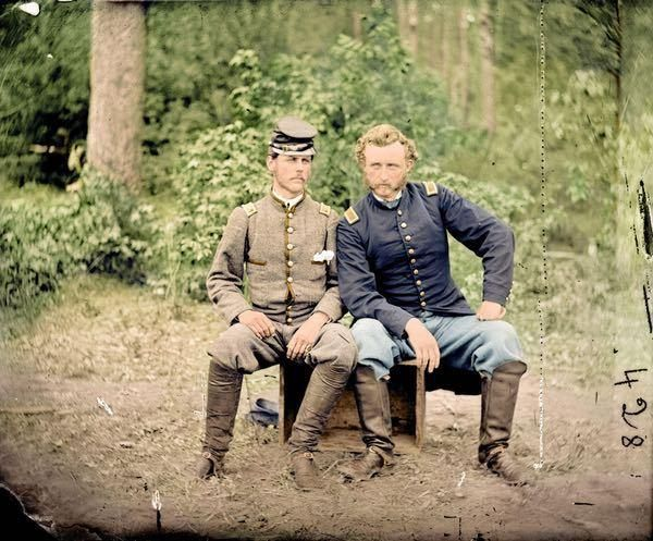 Capt. George A. Custer & Lt. James B. Washington, Fair Oaks, VA, May 31, 1862