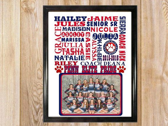 Cheerleading Gifts / Cheer coach gift / Personalized cheerleading team gifts /team photo gift / Cheerleader print / Team gifts                                                                                                                                                                                 More