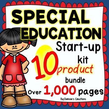 Special Education: Startup Kit Bundle OVER 1000 PAGES AND GROWING is a must have for any Special Education Teacher, Intervention Specialist, Support Teacher, or Resource Teacher. Special Education Startup Kit is the perfect addition to any Intervention Curriculum.