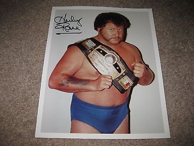 Harley Race NWA Champion Legend hand signed Autographed Photo Authentic