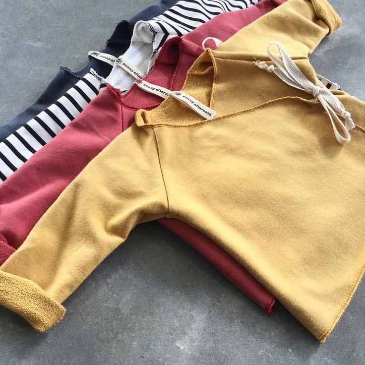 Kimonos with overlocked edge