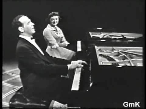 GISELE MacKENZIE & Roger Williams - piano duet - Slaughter on Tenth Aven...