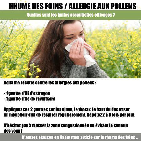 Rhume des foins ou allergie aux pollens : Mes recettes pratiques avec les huiles essentielles.