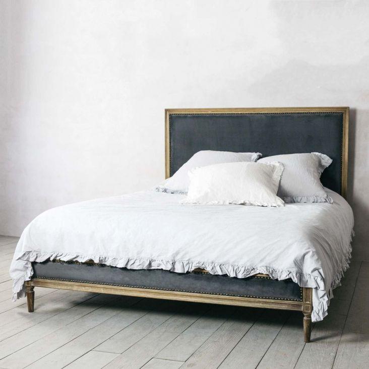 Gray Velvet Headboard Velvet King Size Bed King Size Bed Grey