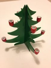 VINTAGE anni'80 per albero di Natale 8 Albero portacandele Decorazione Forma. legno. VERDE