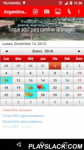 Argentina Calendario 2016  Android App - playslack.com ,  Argentina Calendario con lista de feriados 2015, 2016 and 2017Verá este calendario como calendario en la pared.- También puede cambiar la imagen de este calendario- Añadir la nota con el icono de cumpleaños, amor, tarea- Establecer primer día de la semana (Domingo o Lunes)