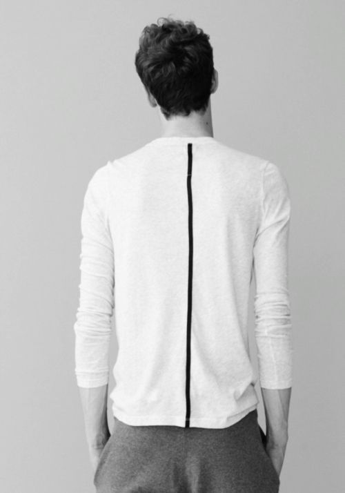 Apply tape to a white long sleeve tee, then also apply your logo vertically along this feature line to create a unique detail and interesting branding detail.  For more branding options contact us on www.tailoredimage.com (scheduled via http://www.tailwindapp.com?utm_source=pinterest&utm_medium=twpin&utm_content=post7022988&utm_campaign=scheduler_attribution)