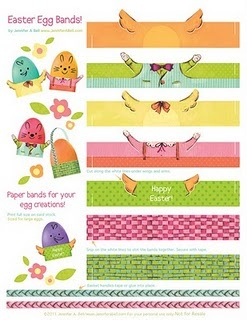 * free printable egg bands to download - lots of free printables on this site, for various holidays - just keep scrolling