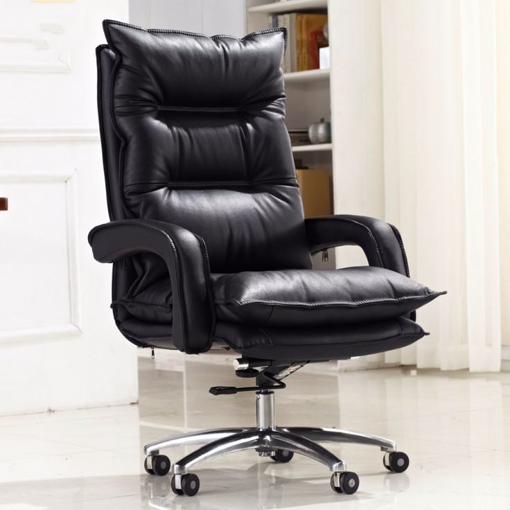 High quality super soft comfortable computer chair swivel home office chair lifting double thickness boss chair seat