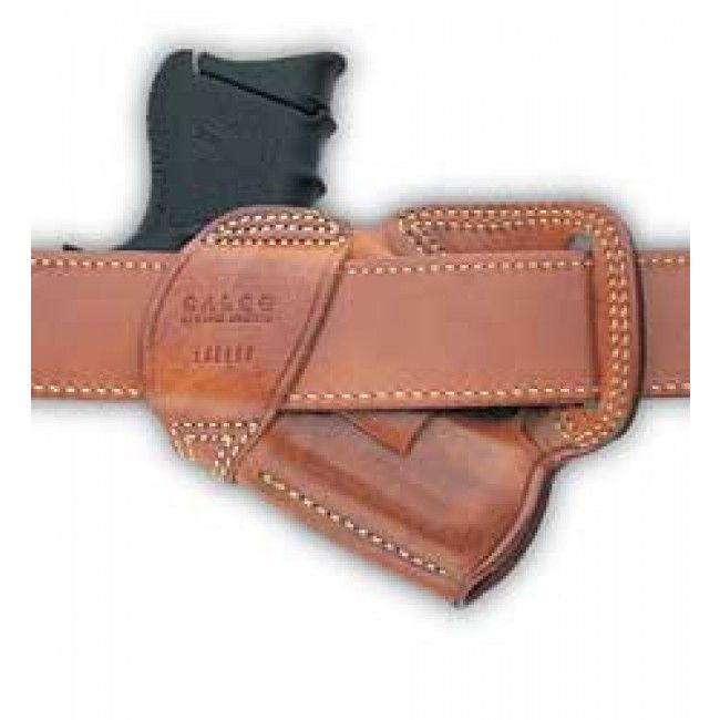 Galco Small of Back Holster Right Hand Black Glk 26, 27 Leather
