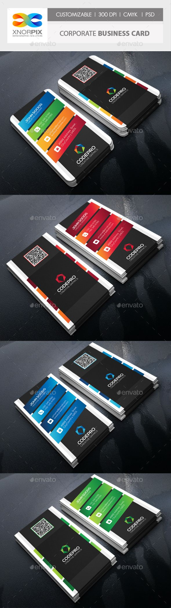 #Corporate #Business Card - Corporate Business C#ards Download here: https://graphicriver.net/item/corporate-business-card/18282391?ref=alena994