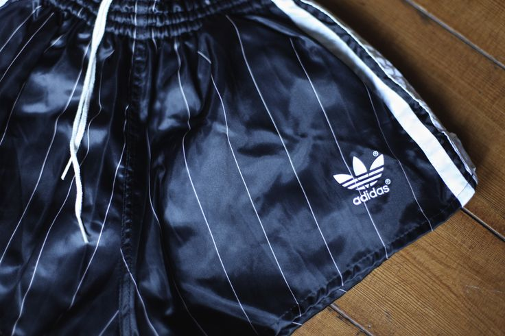 STUNNING VINTAGE ADIDAS SHORTS FOR SALE Very Rare Black / White / Pink NEW but Vintage Adidas Beckenbauer Shorts. D4 (S) German Made