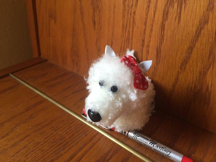 Un favorito personal de mi tienda de Etsy https://www.etsy.com/es/listing/555001768/perro-westy-blanco-hecho-de-pompones