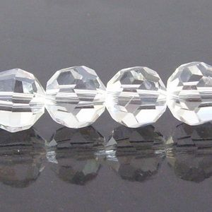 Clear Crystal Quartz Faceted Round Beads 6mm 100pcs
