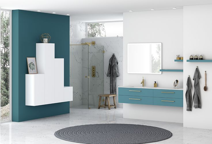 Add a splash of colour to your bathroom...