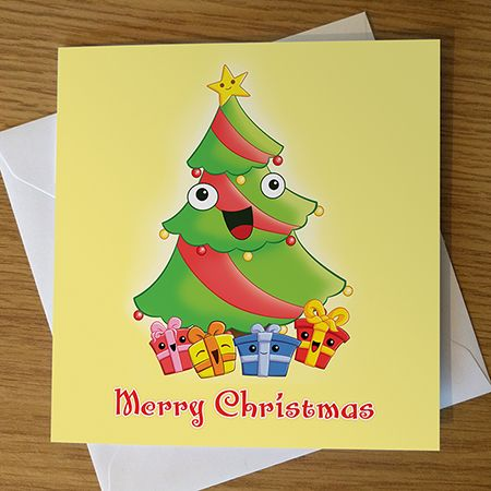 Cartoon Christmas Tree Card