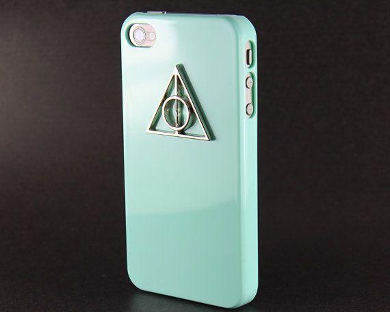 Deathly Hallows Harry Potter Light Green Hard by BeautyandLuck, $8.99