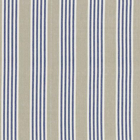 Buy John Lewis Cranmore Stripe Curtain, Navy | John Lewis
