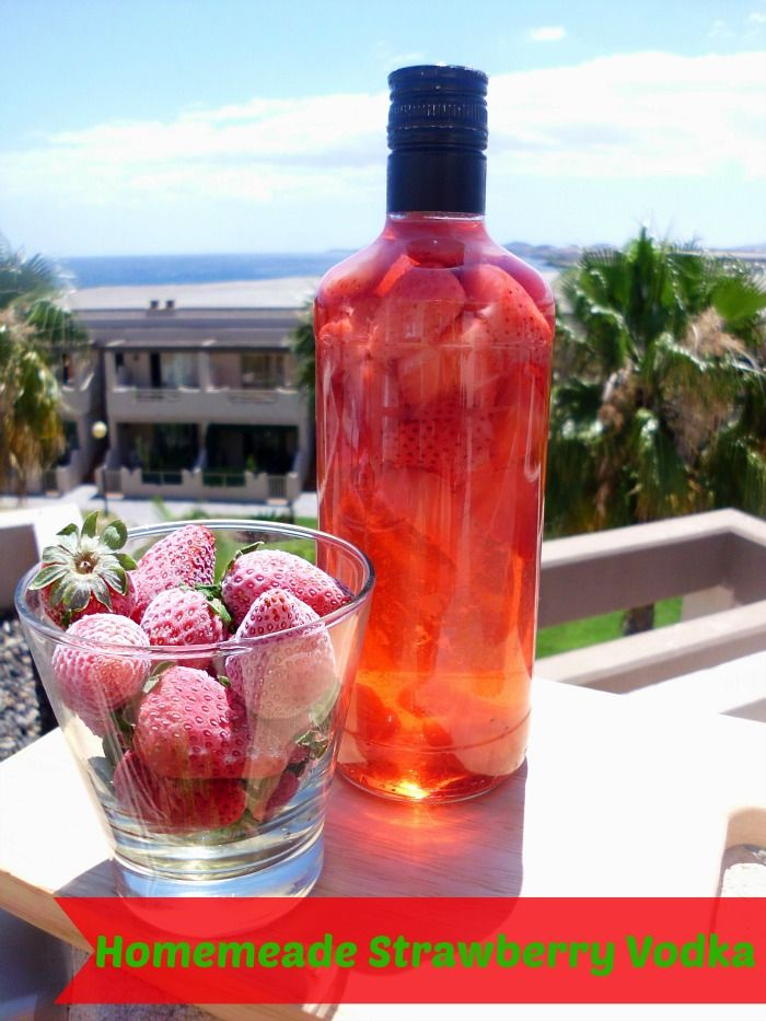 Homemade Strawberry Vodka Recipe - forget about forking out $$$ at the store for flavoured vodka. Make your own strawberry vodka at home for a fraction of the price with just 2 ingredients! | www.pinkrecipebox.com