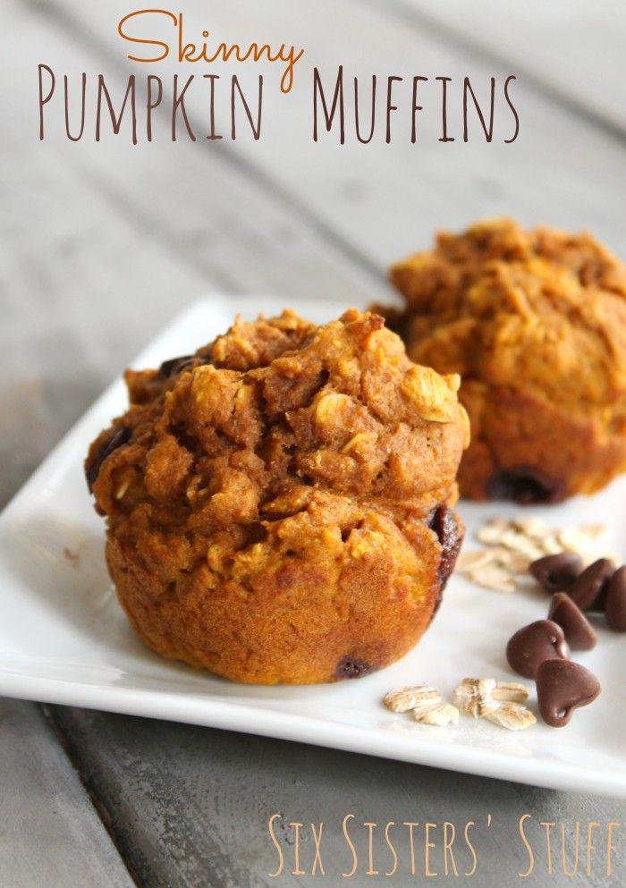 Skinny Pumpkin Muffins from SixSistersStuff.com