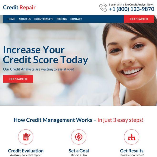 Download Professional Credit Repair Responsive Website Design To